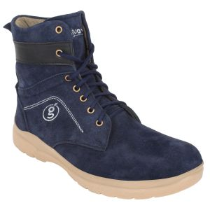 "Guava Men""s Suede Leather Boots - Blue - (product Code - Gv15ja314)"