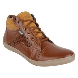 "Guava Men""s Leather Ankle Shoes - Tan - (product Code - Gv15ja320)"