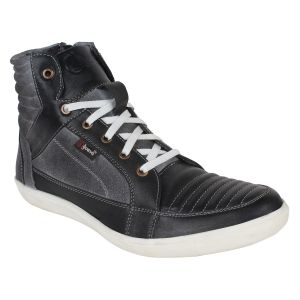 "Guava Men""s Leather Boots - Black - (product Code - Gv15ja324)"