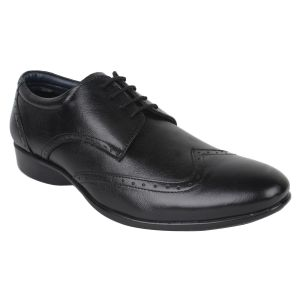 "Guava Men""s Leather Brogue Shoes - Black - (product Code - Gv15ja326)"