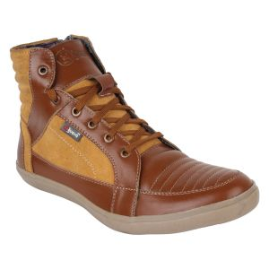 "Guava Men""s Leather Boots - Tan - (product Code - Gv15ja332)"