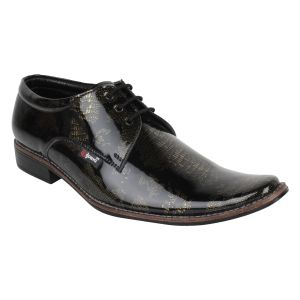 "Guava Men""s Royal Patent Party Shoe - Black - (product Code - Gv15ja337)"