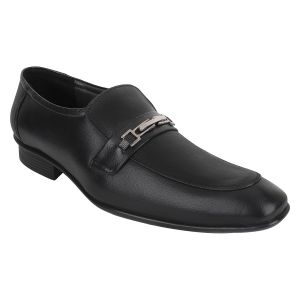 "Guava Men""s Leather Slip-on Formals - Black - (product Code - Gv15ja341)"