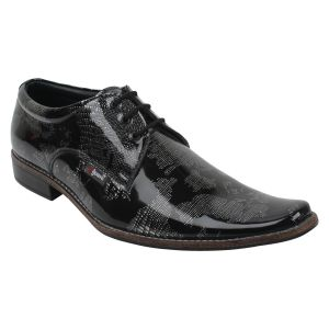 "Guava Men""s Royal Patent Party Shoe - Black - (product Code - Gv15ja344)"