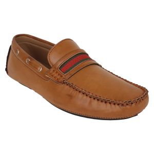 "Guava Men""s Driving Loafers - Tan - (product Code - Gv15ja350)"