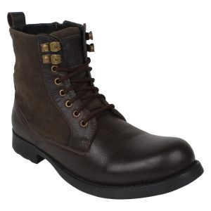 "Guava Men""s Hybrid Brown Leather Boot - (product Code - Gv15ja354)"