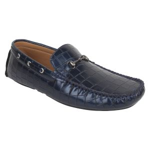 "Guava Men""s Reptile Textured Loafers - Blue - (product Code - Gv15ja357)"