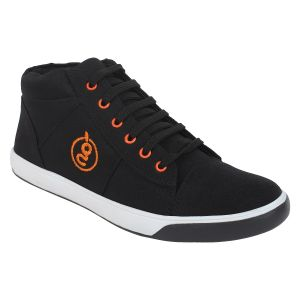 "Guava Men""s Ankle Sneakers - Black - (product Code - Gv15ja359)"