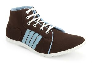 Canvas Shoes (Men's) - Guava Brown Canvas Sneaker Shoes - GV15JB129