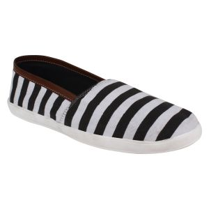 Hirolas Men Stripe Slip-ons - Black - Hrl16014