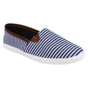 Hirolas Men Stripes Slip-ons - Blue - Hrl16023
