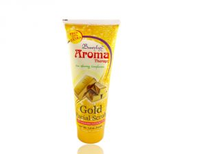Aroma Therapy Gold Facial Scrub Free Liner & Rubber Band-upu