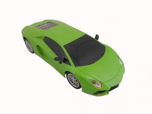 Gci Green Racing Car