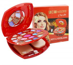 Ads New Fashion Colour Make Up Kit With Liner & Rubber Band -aohu-(code-ads-a8652-mkt-lt28-m-eylnr-fl)
