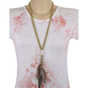 Adbeni Real Feathers On Metal Handcraft Necklace-adb-002