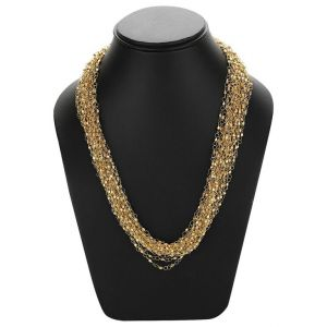 Adbeni Fine Metal Link Golden Chains Necklace-adb-021