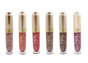 Glam 21 Super Smooth Lipgloss Silky Effect With Liner & Rubber Band -hrhh-d6-(code-gm-5355-6pcs-d-lpgl-lt28-m-eylnr-fl)