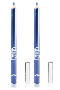 Glam 21 Blue Glimmersticks For Eyes & Lips Pack Of 2pcs With Hair Rubber Band- Gh-(code - Gm-e05-blu-2pcs-el-lt32-fl)
