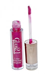 Glam 21 Color Perfection Lip Gloss With Liner & Rubber Band -rhp-c3-(code-gm-e351-c3-lpgl-lt28-m-eylnr-fl)