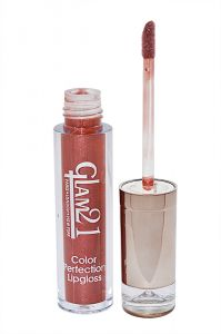 Glam 21 Color Perfection Lip Gloss With Liner & Rubber Band -rhp-c5-(code-gm-e351-c5-lpgl-lt28-m-eylnr-fl)