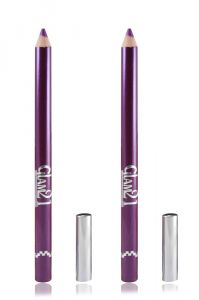 Glam 21 Purple Glimmersticks For Eyes & Lips Pack Of 2pcs With Hair Rubber Band- Gt-(code - Gm-l07-prpl-2pcs-el-lt32-fl)