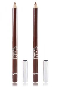 Glam 21 Brown Glimmersticks For Eyes & Lips Pack Of 2pcs With Hair Rubber Band- Pp-(code - Gm-l11-brw-2pcs-el-lt32-fl)