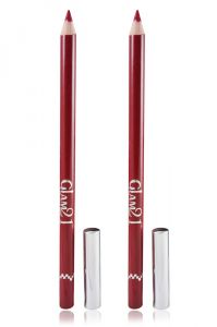 Glam 21 Red Glimmersticks For Eyes & Lips Pack Of 2pcs With Hair Rubber Band- Go-(code - Gm-l16-red-2pcs-el-lt32-fl)