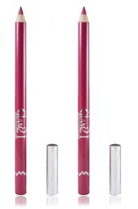 Glam 21 Pink Glimmersticks For Eyes & Lips Pack Of 2pcs With Hair Rubber Band- Uu-(code - Gm-l22-pnk-2pcs-el-lt32-fl)