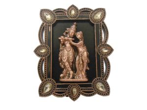 Gci Brown Metal Radha Krishna Hanging