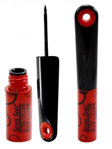 Seven Seas Ultra Dark Line Eye Liner With Liner & Rubber Band -ggu-(code-svns-el-002-eylnr-lt28-m-eylnr-fl)