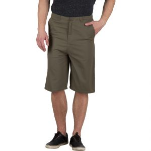 Hypernation Military Green Color Cotton Three Fourth For Men