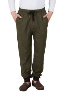 Hypernation Military Green Twil Cotton Joggers