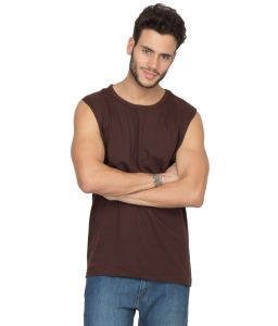 Hypernation Brown Muscle Cotton T-shirt