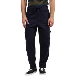 Cargos (Men's) - Hypernation Blue Cargo Cotton Pants