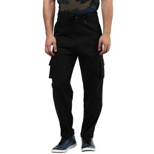 Hypernation Black Cargo Cotton Pant
