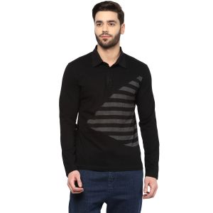 Hypernation Striped Men Polo Neck T-shirt_hypm0680