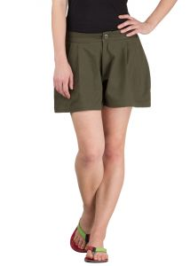 Hypernation Military Green Twill Cotton Shorts