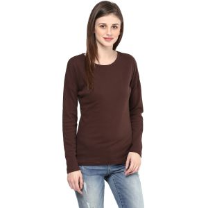 Hypernation Solid Women Round Neck T-shirt_hypw0713