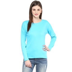 Hypernation Solid Women Round Neck T-shirt_hypw0714