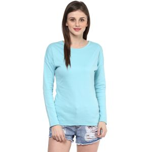 Hypernation Solid Women Round Neck T-shirt_hypw0715