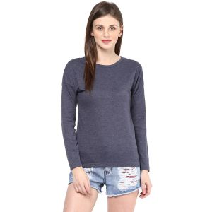 Hypernation Solid Women Round Neck T-shirt_hypw0720