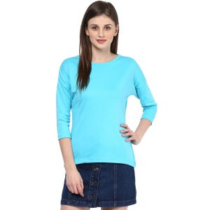 Hypernation Solid Women Round Neck T-shirt_hypw0723