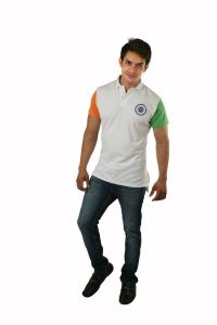 Hypernation Indian Flag Theme Polo T-shirts For Men