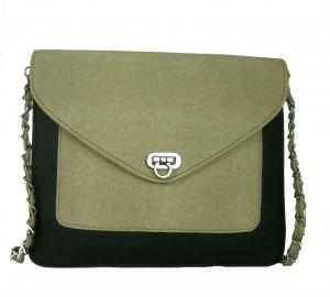 Estoss Women's Clothing - Estoss MEST1010 Beige Metal Chain Sling Bag