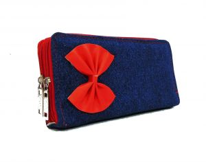 Wallets, Purses - Estoss MEST2210 Blue  Denim Pouch Clutch
