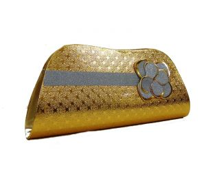 triveni,platinum,jagdamba,ag,estoss,port,Jharjhar Apparels & Accessories - Estoss MEST2253 Gold  Party Clutch
