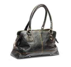 Estoss Black Leather Box Handbag