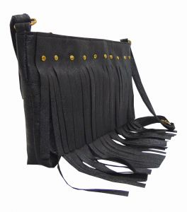 Estoss Women's Clothing - Estoss Black Frill Sling Bag (Code - UPSVS71059)
