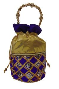 triveni,platinum,jagdamba,ag,estoss,port,Triveni Apparels & Accessories - Estoss Purple Potli -MEST6332