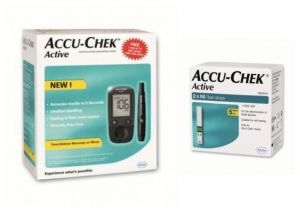 Accu chek Health & Fitness - Active Blood Glucometer (no Freebie) With 100 Strips